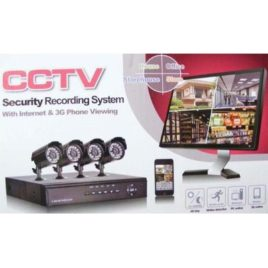 Santa 4 Channel CCTV Security Recording System Kit