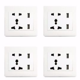 Santa 4pcs Dual Usb Wall Socket