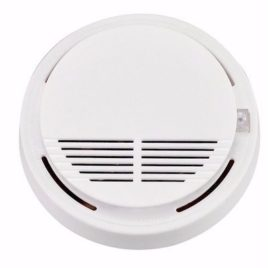Santa Smoke and Fire Dual Sensor Powered Alarm System – White