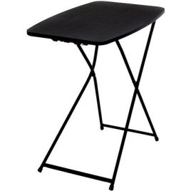 SANTA 26″ Adjustable Height Personal Folding Table, Black